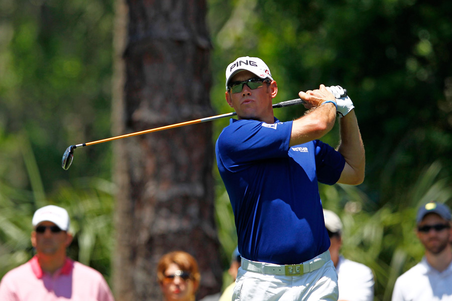 Lee Westwood had a good round going until a double bogey on No. 7. He finished with a one-under 71.
