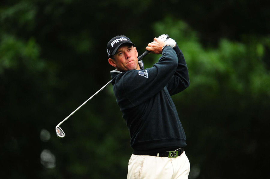 Lee Westwood was in the lead until he made a double bogey on 18.