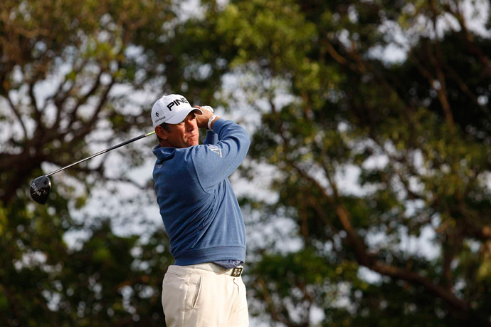 Lee Westwood is also two shots back after an even-par 70.