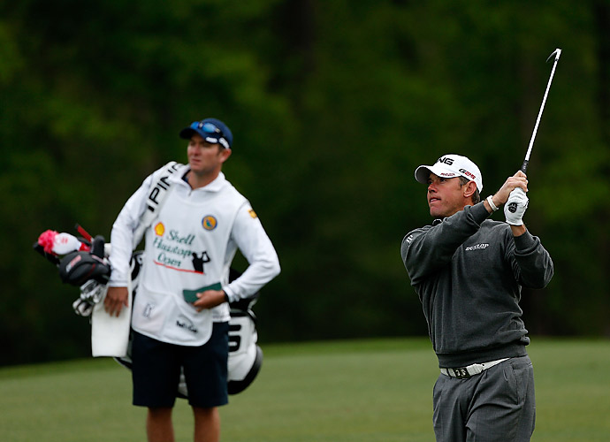 Lee Westwood shot a four-under 68 at Pebble Beach in his 2013 PGA Tour debut.