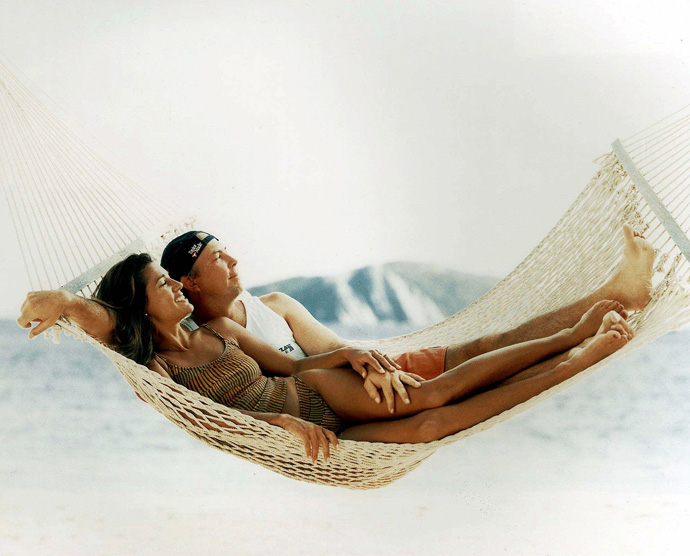 Tom Lehman and his wife, Melissa, took this photo for the 1999 Sports Illustrated Swimsuit issue.