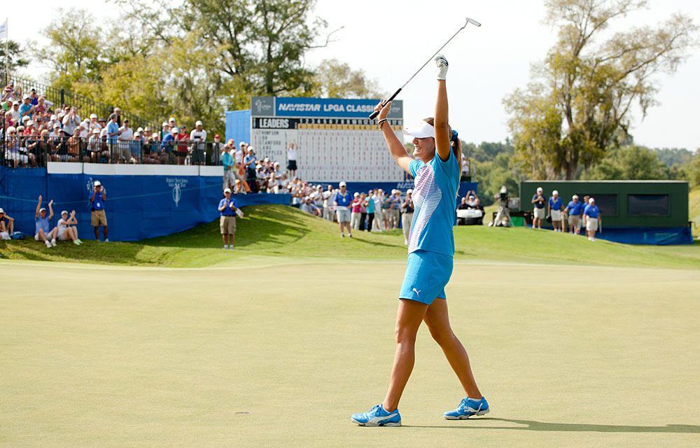 Lexi Thompson                       Reason to Celebrate: Thompson, 16, became the youngest professional to win an LPGA event when she captured the Navistar Classic by five strokes.