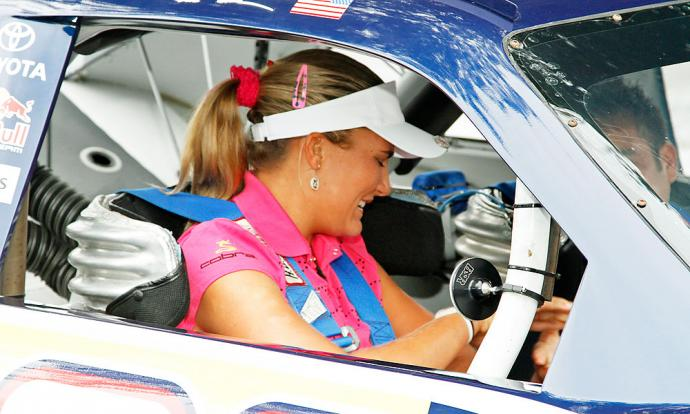 In 2010 in Galloway Township, N.J., Lexi Thompson arrived in a NASCAR stock car, thanks to her sponsor Red Bull, to announce she was turning pro.