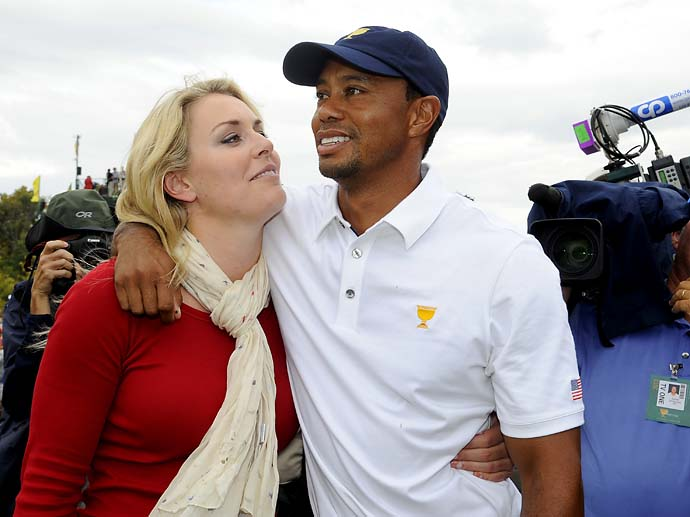 """He's goofy, like dorky goofy.""                     --Lindsey Vonn on boyfriend Tiger Woods."