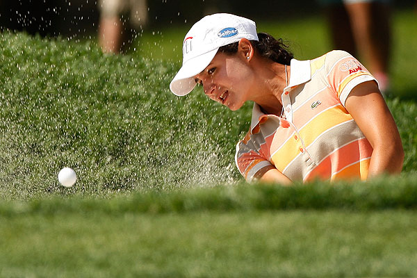 First round of the U.S. Women's Open                   Lorena Ochoa shot a two-under 69. She's one stroke off the lead.