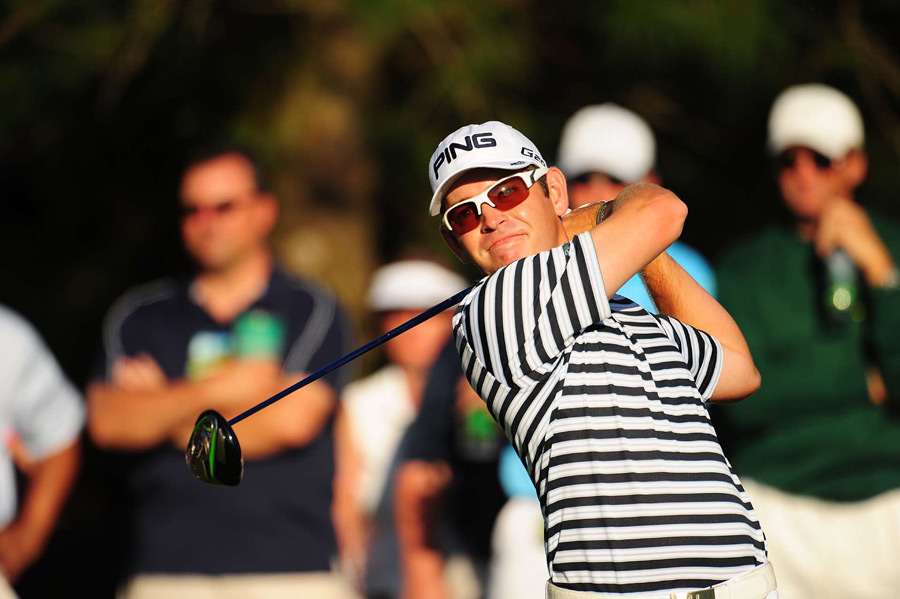Louis Oosthuizen, who won the 2010 British Open at St. Andrews, is only two shots back.