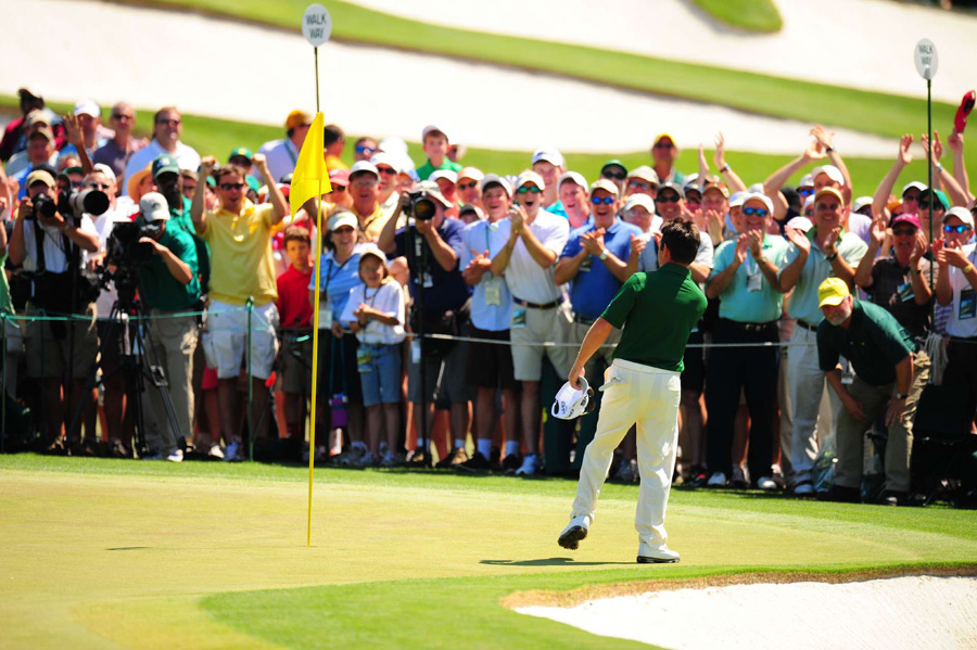 Surprisingly, Oosthuizen tossed his ball into the crowd.