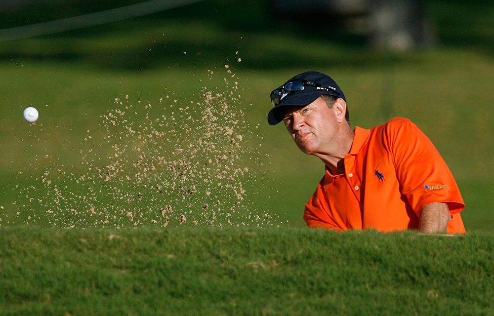 U.S. Ryder Cup captain Davis Love III missed the cut after firing a five-over 75.