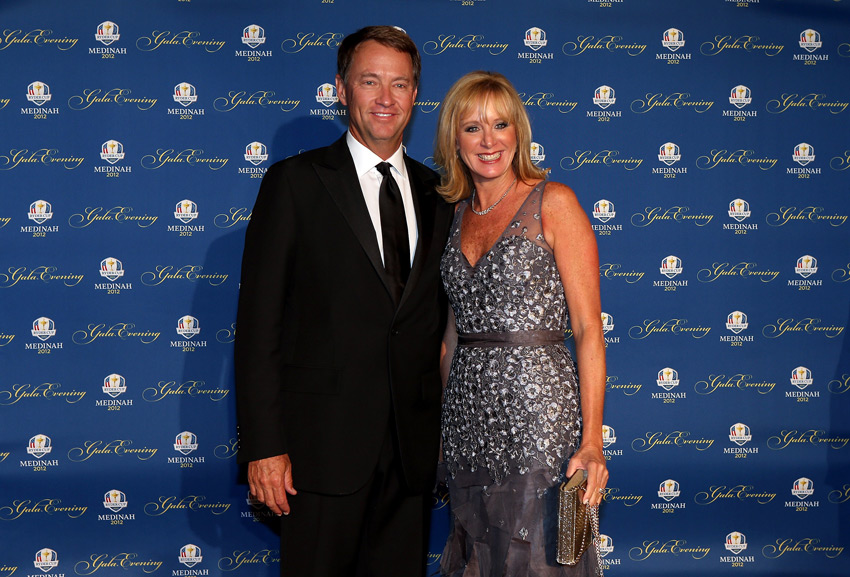 U.S. captain Davis Love III and his wife, Robin.