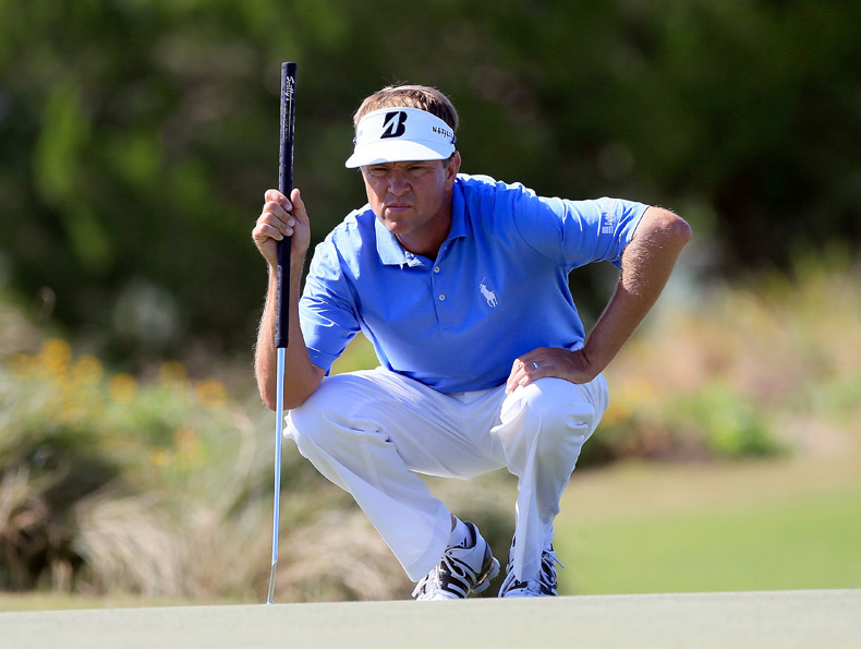 On Saturday Davis Love III birdied 18 to grab a share of the lead with Jim Furyk heading into the final round.