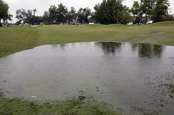 Torrential rain flooded the course and cancelled play Friday and Saturday.