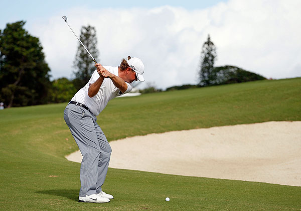 The 2009 majors winners are in Bermuda this week for the Grand Slam of Golf. After the first round, U.S. Open winner Lucas Glover has the lead at six under par.
