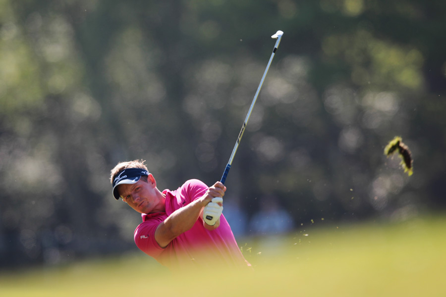 Luke Donald is tied for second place, four back of leader James Morrison.