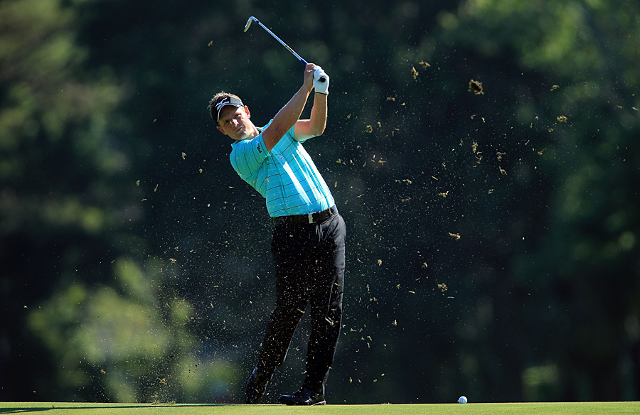 Luke Donald made two eagles in his round of three-under 69.