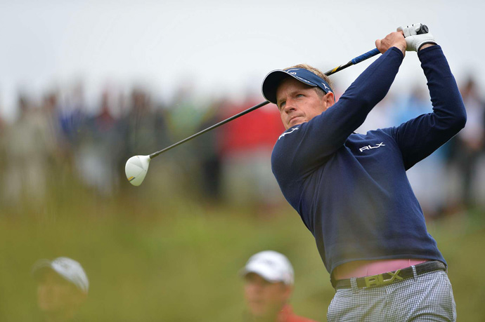 Luke Donald bogeyed two of the last three holes to finish at two under.