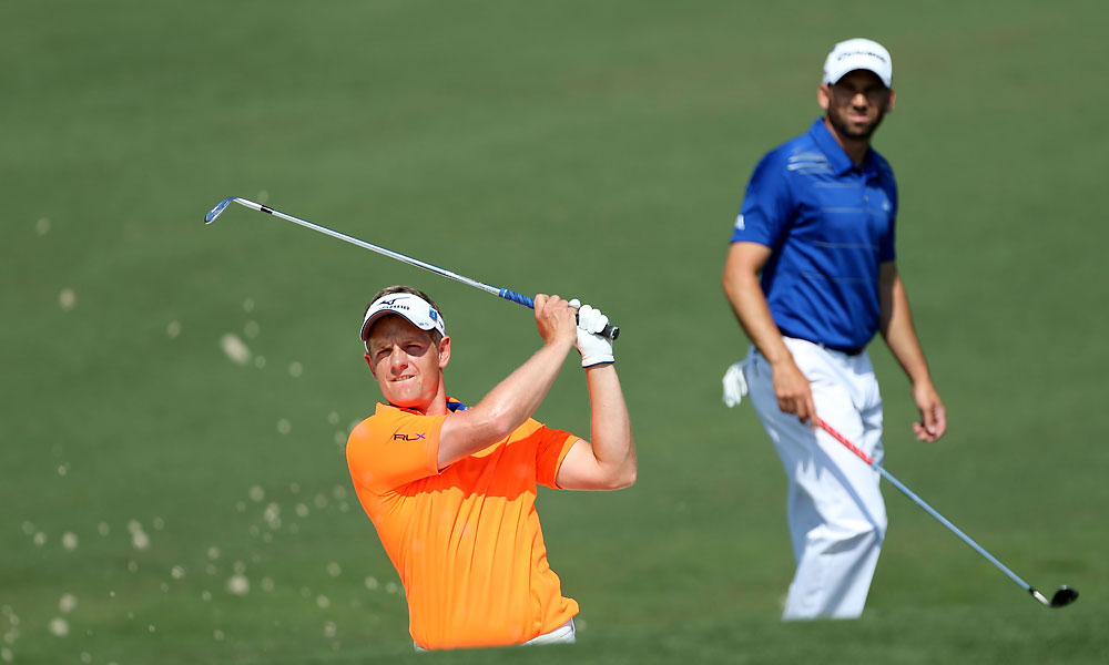 Luke Donald and Sergio Garcia practiced on Wednesday. Donald will not be playing in the Par 3 Contest.