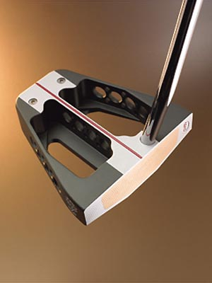"MacGregor V-Foil M6.4K-GT$229                                              The company line ""The V-Foil M6.4K-GT putter designed by Bobby Grace has the highest MOI of any putter available for unmatched forgiveness and straighter putts.""                                              Our testers say The panel immediately noted that the heavy-looking V-Foil is surprisingly light. ""The extra-large head has a very light and comfortable feel, like an old glove,"" said Ken Stauffer (handicap 14). ""That allowed for easy takeaway and acceleration through the ball."" Other testers also celebrate the club's smooth balance while swinging. That explains why the group voted GT tops in our putter test for distance control. In other words, you'll cut down on the number of three-putts. ""I burned more lips from long range than a drunken fire-eater,"" said Doug Lair (10). A minor complaint was its lack of feedback on mis-hits. ""The 8beryllium-copper face is actually too soft,"" said Gerald Holtzman (0). ""I can't feel the difference between pured putts and those that miss by a mile.""                                              Additional Comments:                                               ""The GT is a heat-seeking putting instrument.""                       -Gary Wilson (13)                                              ""Perfect for those who want a meaty mallet that isn't overbearing in terms of weight.""                       -Roger Liau (17)"