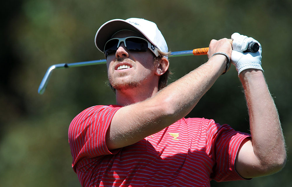 Hunter Mahan: A                       Record: 4–1                       Great swing, great showing--why he doesn't win three times a year?