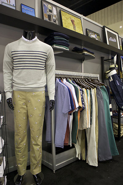 "Maide -- a golf line started by online men's clothing store Bonobos -- offers elegant contemporary golf clothers, ""khakis without diaper butt,"" as they putt it. For more information, visit Bonobos website."