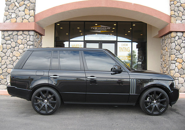 "John Mallinger                     Mallinger had Notorious Motoring give his Range Rover their ""Murdered Out"" customization job."