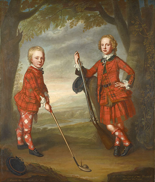 William Mosman (Scottish, about 1700-1771)                     Sir James Macdonald (1741-1765) and Sir Alexander Macdonald (1744-1810)                     ca. 1749                     Oil on canvas