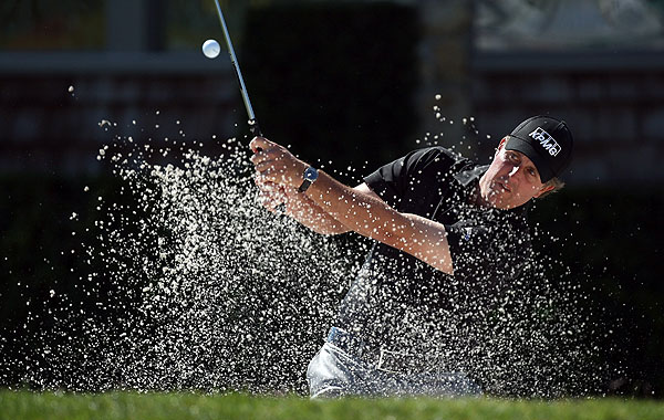 Phil Mickelson is two over par after a first-round 72.