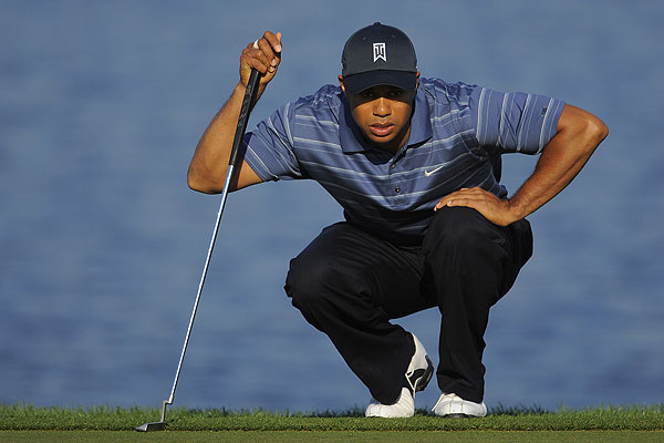 Tiger had two bogeys and two birdies to finish at even par.