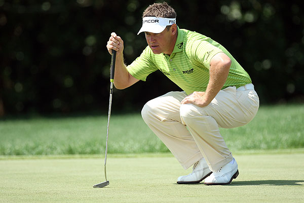 Lee Westwood double bogeyed the par-4 third hole. He finished at two under par.