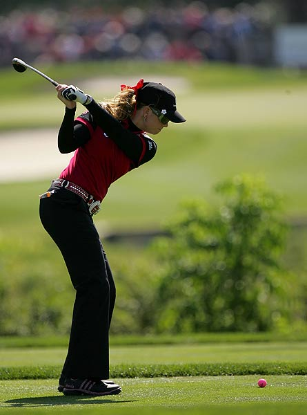 Paula Creamer, who faced Annika Sorenstam, was two over on the second day.