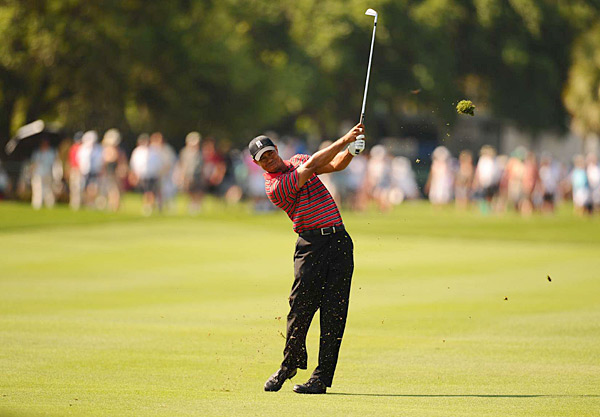 Woods then made bogey at 17 and double bogey at 18, ruining his hopes of a top-10 finish.