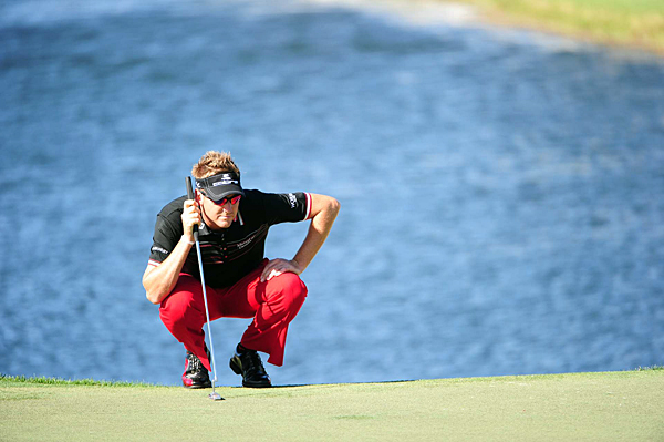 Ian Poulter made the cut by one stroke.