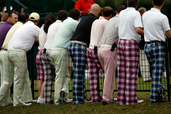 Poulter's fans were easy to spot in the gallery.