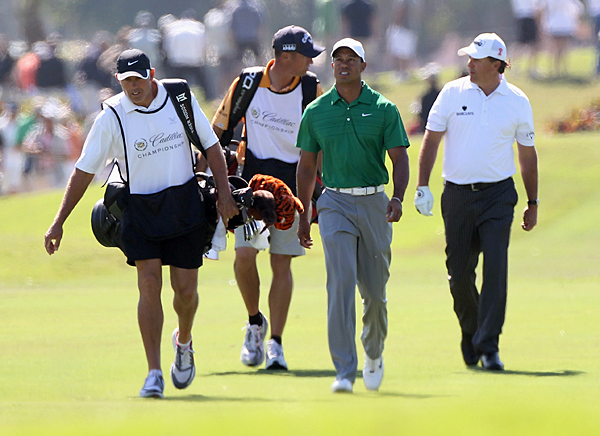 Woods and Mickelson were paired together for the third straight day.