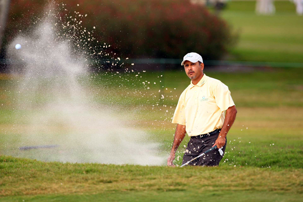 Jeev Milkha Singh was near the lead until a bogey on 17 and a double bogey on 18.