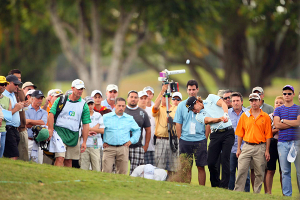 Camilo Villegas made an eagle, three birdies and a bogey for a 68.