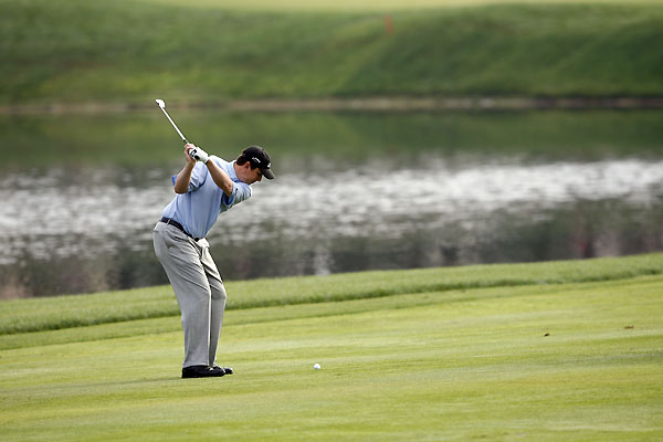 J.J. Henry, who was tied for the lead after the first round, shot even par.