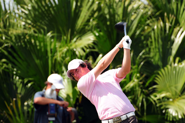 Rory McIlroy was in the hunt until bogeys on 14, 15 and 17.