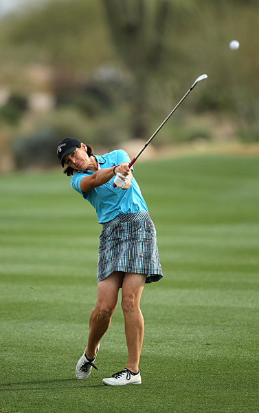 opened strong with a 68 on Friday, but she fell out of contention after a 4-over 76.