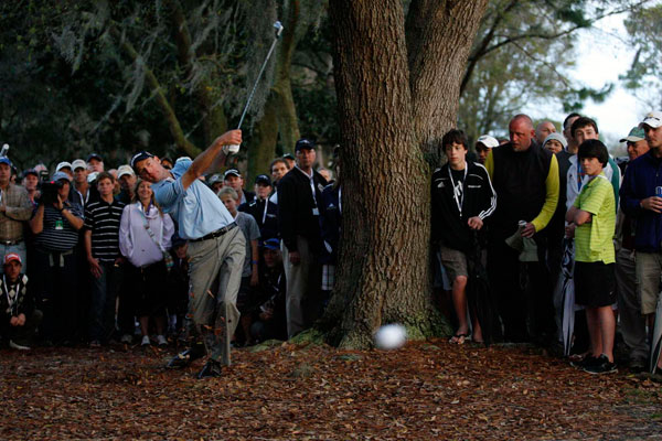 Furyk won despite making a bogey on 18 after finding trouble off the tee.