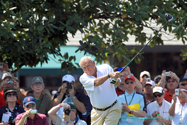 Arnold Palmer thrilled the fans once again by teeing it up in the pro-am.
