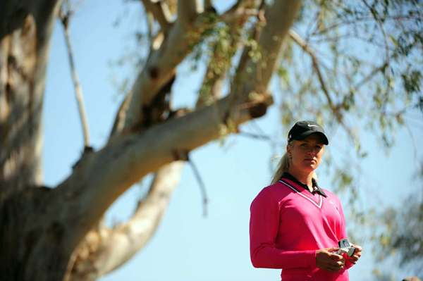 Suzann Pettersen made five birdies and two bogeys for her second straight 69.