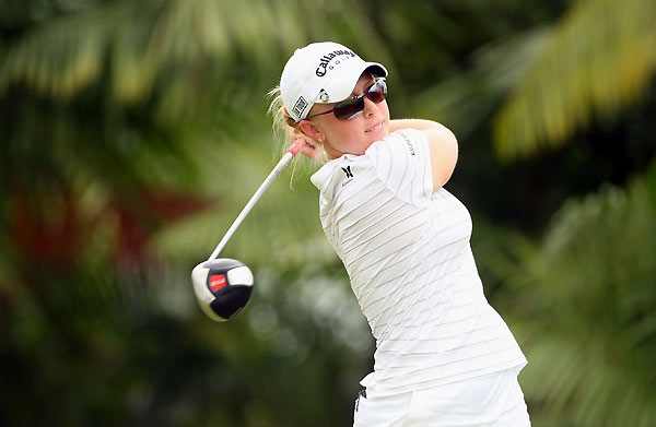 Morgan Pressel made birdies on 15 and 16 to finish tied for eighth.