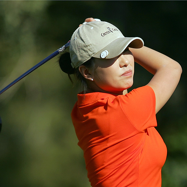 Shi Hyun Ahn shot a 1-over 73 and trails the leaders by a stroke.