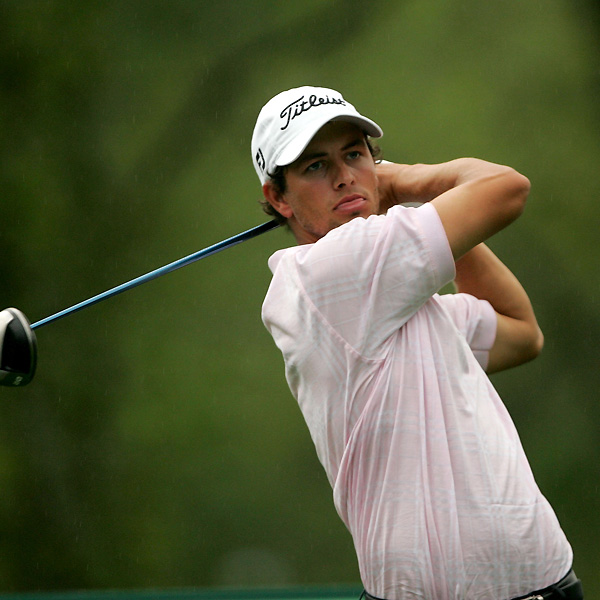 Adam Scott moved into contention with a 65 on Saturday.