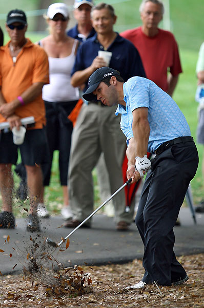 Paul Casey made a bogey on No. 10 after finding the rough, but he finished the day at three under.