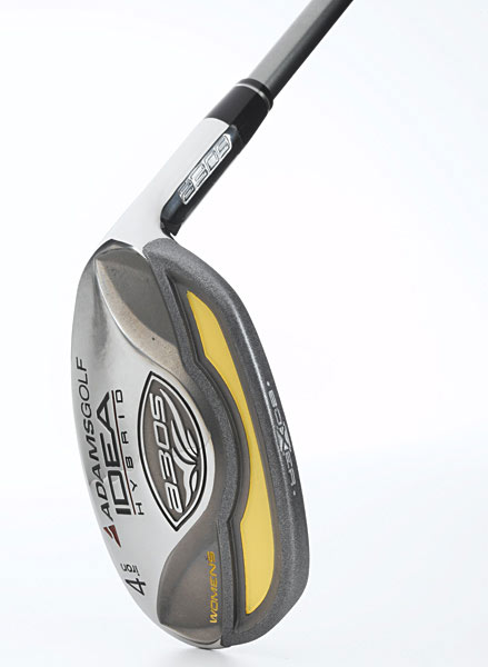 "Adams Idea a3                     OS Hybrids                     These boxy, rectangular                     hybrids feature ""boxer                     technology"" that naturally                     pushes the club's weight                     to the extreme heel and                     toe. This raises the ""moment                     of inertia,"" which simply                     means that the club is more                     stable and forgiving on offcenter                     strikes. Idea a3 OS                     hybrids have a low center                     of gravity (CG) to help get                     shots airborne easier. These                     come with comfortable                     Winn grips and easy-on,                     easy-off neckless headcovers.                     $149 each, graphite;                     adamsgolf.com"