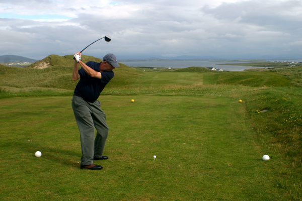 Here I am on the eighteenth tee at Carne. Before I holed out for the last time, I managed to pack a lifetime of memories into a single season of Irish golf. If you'd like to read more, I humbly recommend my just-published account, Ancestral Links: A Golf Obsession Spanning Generations (New American Library). And if you'd like to live it -- well, Ireland and Scotland are waiting.