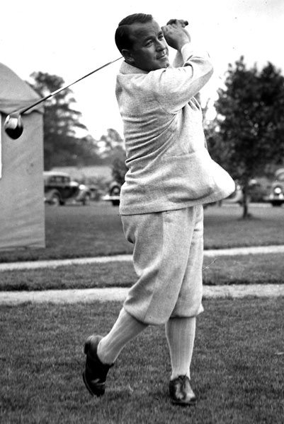 1935                     Gene Sarazen vs. Craig Wood                     282-282*                     (Won playoff, 144-149)                                          A daunting task awaited Gene Sarazen when he arrived at the 15th tee in the final round: He needed three birdies in the final four holes to catch clubhouse-leader Craig Wood. For his second shot from roughly 225 yards, Sarazen chose a 4-wood — and nailed it. The shot landed on the far bank of the pond, hopped onto the green then rolled into the cup, for a double eagle. He tied Wood with one swing. Three pars later, he earned a playoff, and he finished off Wood the following day.                                           • Return to Greatest Masters Matches Homepage