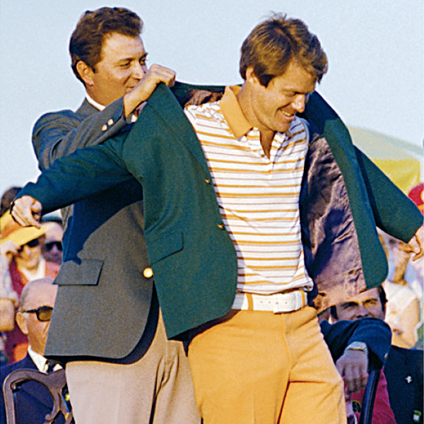 "WHO WORE IT WORST?                                                                     Bucking the tradition of players in contention wearing green-friendly outfits for the final round, 1977 winner Tom Watson took the throne while sporting orange pants and a white patent leather belt. ""I didn't care what I looked like."" Hey, no kidding, Tom!"