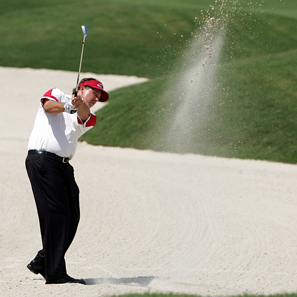 """""""It's tough to get the ball close. The par 5s you can make birdies on and you can get it to 15, 20 feet and make some of these putts, so I expect some of the scores will be quite low on the week,"""" Mickelson said."""